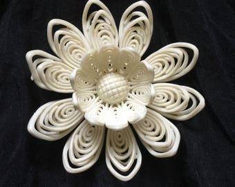 Delicate White Flower Vintage Celluloid