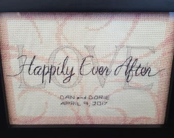 Customizable Happily Ever After Cross Stitch