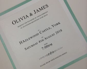 Tiffany Evening Reception Wedding Invitation