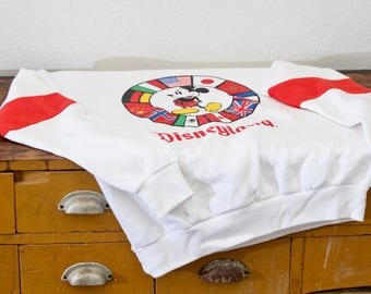Vintage Disney Mickey Mouse Epcot Center Sweatshirt Jumper Pullover New Old Stock