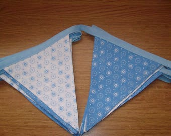 Blue and White double sided Bunting