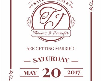 Classic Save the Date Postcard, Save-the-Date Card