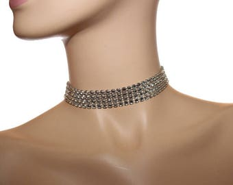 Choker with Bling Chain