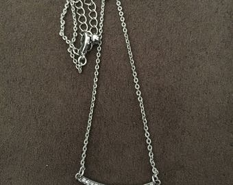 18 inch Silver Bar Necklace