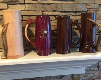 Custom wooden mugs and  coffee cups