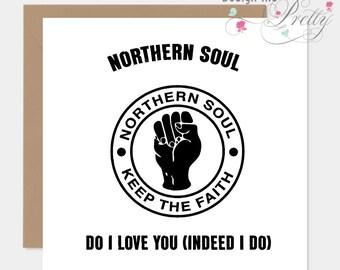Northern Soul Keep The Faith Birthday Card