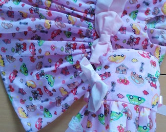 Baby's Dress and Bonnet set For Age 6 months