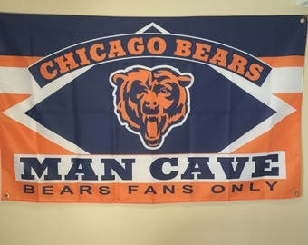Chicago Bears Man Cave Wall Flag