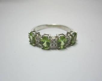 peridot ring, peridot sterling silver ring, beautyful ring