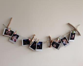 Handmade Driftwood  Polaroid Picture Hanger
