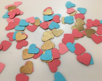 Party Confetti Hearts Set of 100 Assorted Colors