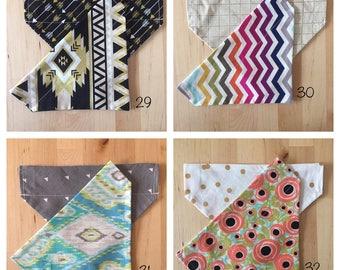 Handmade reversible collar scarf -- patterns 29 - 32