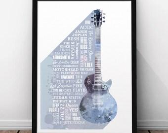 Heroes of Rock Print