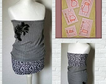 Belly band abdominal bandage skirt dress top grey black bandeau maternity clothes pregnant