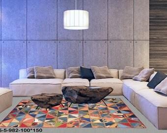 Modern Carpet Handmade Kilim Rug 5-5-982-100*150