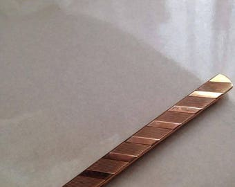 Vintage plated tie clip gold