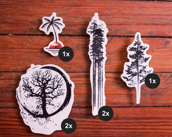 Into the Wild – Nature Tattoos - Temporary Tattoo (Set of 6)