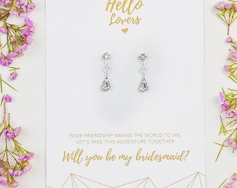 Will you be my Bridesmaids Earrings