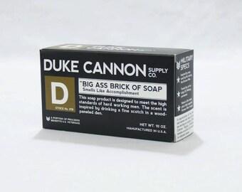Duke Cannon Big Ass Brick of Soap Black Bar Smells Like Accomplishment
