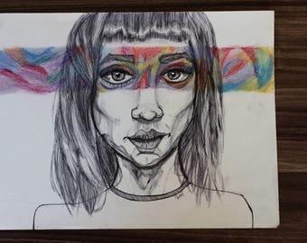 Art of Woman's Face