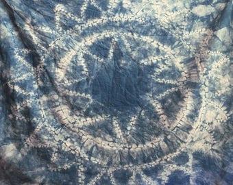 Custom Indigo Dyed Tapestry