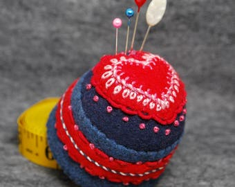 FREE SHIP made to order Heartthrob Bottlecap Pincushion