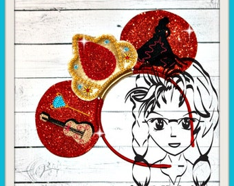 HISPANIC PRiNCESS Inspired Character (3 Piece) Mr Miss Mouse Ears Headband ~ In the Hoop ~ Downloadable DiGiTaL Machine Emb Design by Carrie