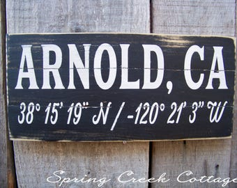 Signs, Custom, Coordinates, Latitude, Longitude, Personalized, Porch Decor, Beach, Nautical, Handpainted, Pallet Sign, Gifts
