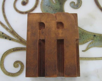 Letterpress Wood Type Printers Block ffl Ligature