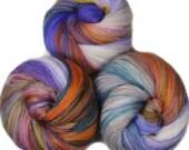 Polka  - classic batts -- (4.2 oz.) organic polwarth wool, merino, bamboo, silk