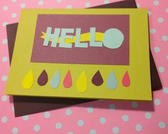 Hello (Rhubarb + Curry) // Cards For All Occasions