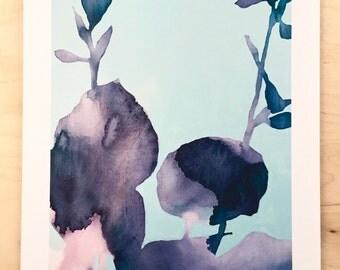 NEW // Hosta Shadow Print // Modern Decor // Garden Lovers // Plant Paintings // Modern Watercolor // Modern Abstract // Modern Print