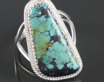 Customized Turquoise Ring. Sterling Silver. Choose Your Stone. Genuine Turquoise. December Birthstone. s16r002