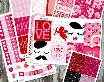 Valentine Weekly Planner Sticker - February Weekly Kit - Valentine Weekly Stickers - for use with ERIN CONDREN LIFEPLANNER™