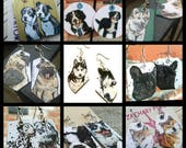 Your Doggie - custom hand-painted dog breed made to order charm earrings