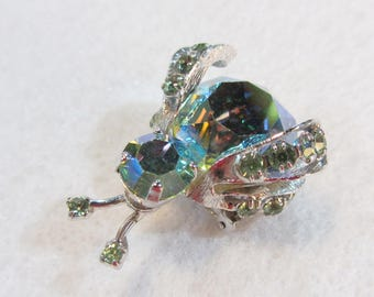 Lady Bird Pin - Designer Signed - Warner - 1950's