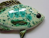 Sunfish ceramic fish art decorative wall hanging