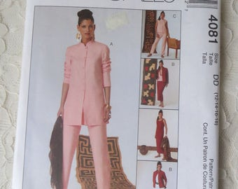 McCalls 4081 Sewing Patterns Jacket, Top, Tank Top, Skirt & Pants Size DD Womens Size 12-14-16-18 Wardrobe