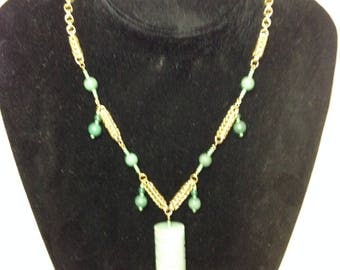 Aventurine Totem Gold Chainmaille Necklace