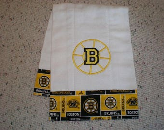 Boston Bruins Baby Burp Cloth