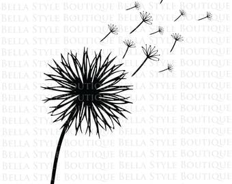 Dandelion Wishes svg cut file