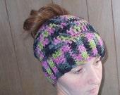Ready to Ship-Messy bun/Bun Hole/PonyTail/Runner Hiker Hat Beanie
