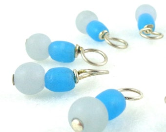 Cloudy Sky Droplet Stitch Markers Knitting or Crochet (Choose Your Size - Set of 10)