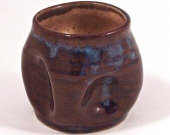 squishy cup in dark floating blue