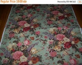NEW YEAR SALE P/Kaufmann  Fabric 54 Wide Roses and Flowers Bark Cloth Like  Drapery Upholstery Sewing Fabric Purse