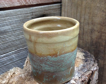 Experimental mugs and cups: green ash cup by Joel Patton