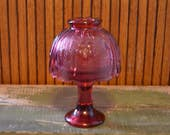 Vintage Pink Fairy Lamp with Flowers - Candle Holder - Royal Hill Vintage