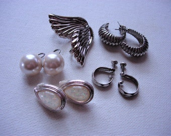 Five Pretty Pairs of Vintage Earrings
