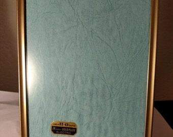 SALE TODAY Mid Century 1950s Vintage 24 Karat Gold Electroplate Photo Frame Hamlin Overton Company 5 x 7