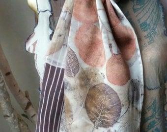 Eco-Printed Silk Scarf